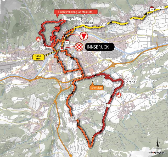 VM Innsbruck menns ritt trasse